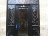 leaded glass doorway